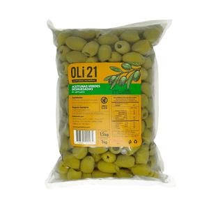 Aceitunas verdes deshuesadas 1 kilo OLI21