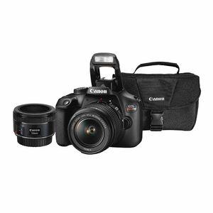 EOS Combo 50: Cámara Fotográfica CANON SLR EOS Rebel T100 18-55mm + EF 50mm + Maletín de Regalo