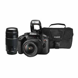 EOS Combo 49: Cámara Fotográfica CANON SLR EOS Rebel T100 18-55mm + EF 75-300 mm + Maletín de Regalo