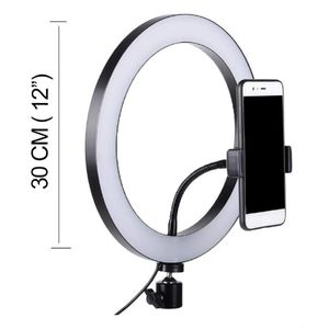 Aro De Luz Led 30cm 12 Pulgadas Flash Grabar Foto Ring Light