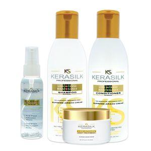 Pack Post Alisados de Kerasilk: Shampoo + Acondicionador + Mascarilla + Serum