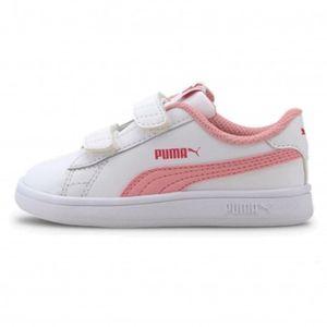 Zapatillas Puma Niña 365174 18 Smash V2 L V Inf Blanco