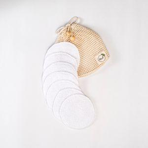 7 almohadillas de algodón reutilizables Mesh Perú desmaquilladoras y limpiadoras.