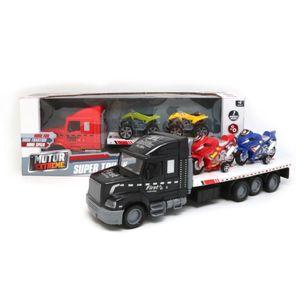 Camion Fricción Set Motor Extreme 2 Motos