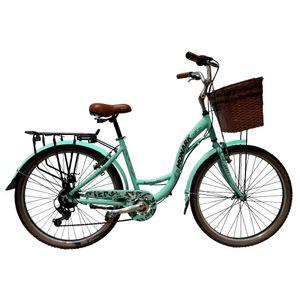 """Bicicleta  Romantic Aro 26"""" Cactus Natural Aqua"""