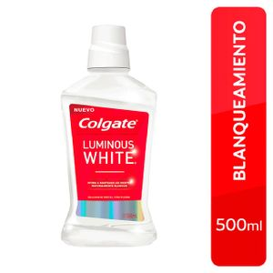 Enjuague Bucal Colgate Luminous White - Frasco 500 ML