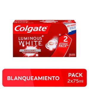 Crema Dental Colgate Pack Luminous White - Pack 2 UN