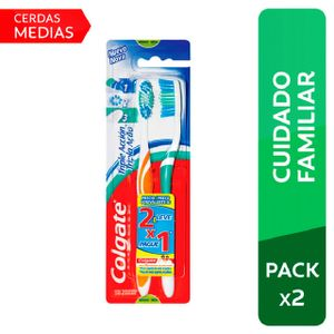 Cepillo Dental Colgate Medio Triple Acción - Pack 2 UN