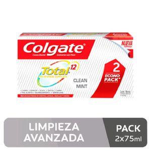 Crema Dental Colgate Total Clean Mint - Pack 2 UN