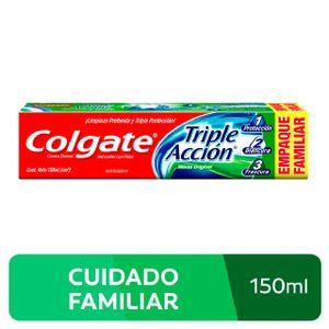 Crema Dental Colgate Triple Acción sabor Menta Original - Tubo 150 ML