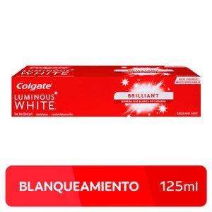 Crema Dental Colgate Luminous White Brillant - Tubo 125 ML