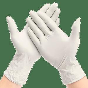 Guantes De Látex Color Blanco Talla M