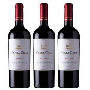 Pack 3 Bodega Perez Cruz - Vino Tinto - Cabernet Sauvignon - Reserva - Chile - 750 ml