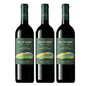 Pack 3 Bodega Banfi - Col di Sasso - Vino Tinto - Blend - Italia - 750 ml