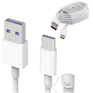 Cable 1 m Huawei 5 Amp USB Tipo C Blanco Morado Super Carga Suelto