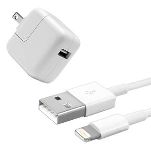 Apple Cargador 12W + Cable 1 m Lightning a USB iPhone iPad iPod Suelto