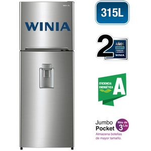 Refrigeradora WINIA 315L No Frost WRT-32GFD Gris