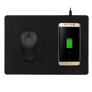 Mouse Pad con carga inalámbrica para celular 10W Negro