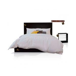 Dormitorio Queen Sicilia + Velador + Perchero Nogal