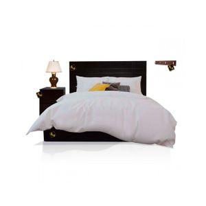 Dormitorio Queen Sicilia + Zapatera + Perchero Negro