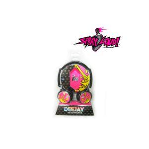 Audifono Spray Loud Deejay Black/Pink - Spl2000/Pk