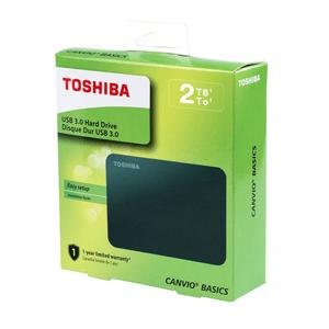 Disco Duro Externo Toshiba 2 Tb Canvio Basics Negro