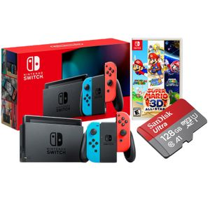Nintendo Switch 2019 Batería Extendida + Super Mario 3D All Stars + Memoria Micro SD 128 GB