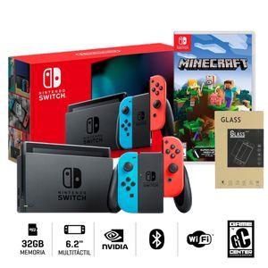 Nintendo Switch 2019 Neón Batería + Minecraft + Mica