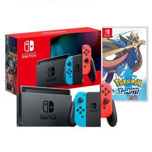 Nintendo Switch 2019 Neón Batería Extendida + Pokémon Sword  Espada