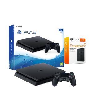 Consola PlayStation 4 Slim 1TB Negro + Disco Duro 2TB USB 3.0 Seagate