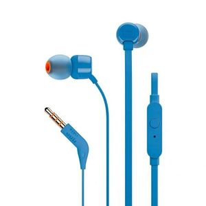 Audifono Jbl Tune T110 Pure Extra Bass Stereo con Micrófono Deportivo Aventura Azul