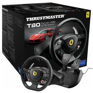 Mando PlayStation ThrustMaster T80 Ferrari 488 GTB Edition Volante + Pedales Negros