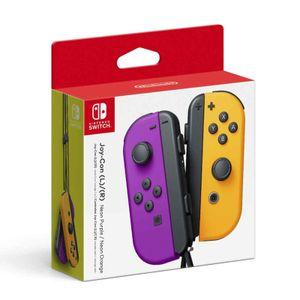 Joy Con Nintendo Switch Neon Morado y Naranja
