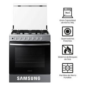 Samsung Cocina a Gas 6 Hornillas NX52T3310PV/PE