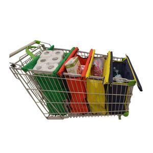 Ecobolsa Pack de 4 Bolsas Reusables Eco Pacha que se Adaptan al Carrito de Supermercado