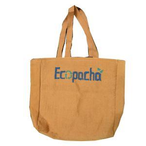 Bolso PET Oro Hecho 100% Por Botellas de Plástico Recicladas Eco Pacha Medidas 38 x 40 x 10 cm.