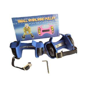 Patines Luminosos Ajustables Dos Ruedas Flashing Rollers Azul