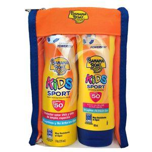Pack Banana Boat Kids Sport C-Spray FPS50 170g + Banana Boat Kids Sport Loción FPS50 180ml