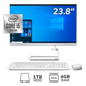 """All In One 23.8"""" Ideacentre A340 Core i5-10 4GB RAM 1TB HDD"""