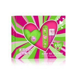 Set Agatha Ruiz de la Prada Rebel Love EDT 80 ml + Esmalte de uñas + Lima de Uñas