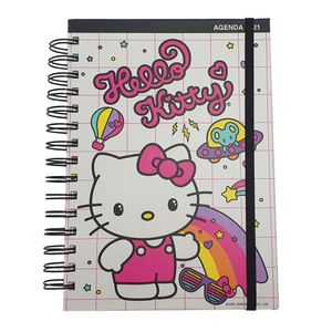 Agenda Hello Kitty 2021 Sanrio Kawaii Burger Shop Blanco Tamaño A5