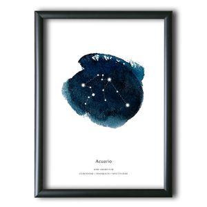 Cuadro Aquellas Estrellas Acuario Acuarela 40x30 cm