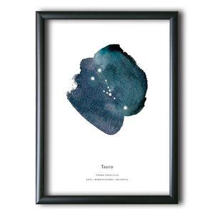Cuadro Aquellas Estrellas Tauro Acuarela 40x30 cm