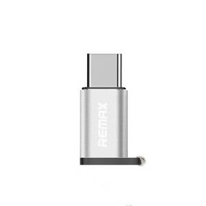 Adaptador Conector Remax Micro Usb a Tipo C Plata