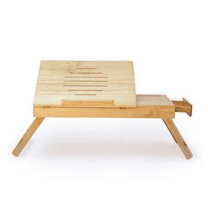 Mesa para Laptop Sami Store con Cajón de Madera Pino