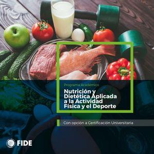 Curso Actualización Nutrición y Dietética Aplicada a la Actividad Física y el Deporte