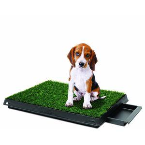 Baño Portátil Pet Potty con Grass Artificial Mediano Perros Pequeños a Medianos