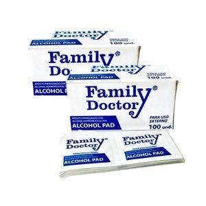 Pad Family Doctor Pañitos Desinfectante con Alcohol x 2 cajas