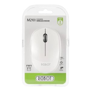 Mouse Inalámbrico Robot M210 Blanco