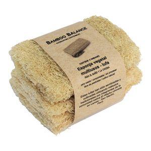 Esponja Vegetal Multiusos Lufa Bamboo Balance Tripack